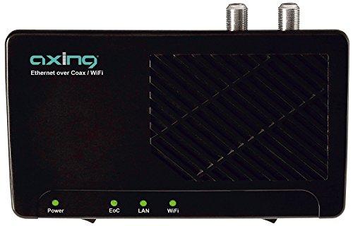 funk receiver Axing EOC 2-01 Ethernet over Coax Netzwerk via Koaxialkabel Einzeladapter mit WLAN (500Mbps, WiFi)