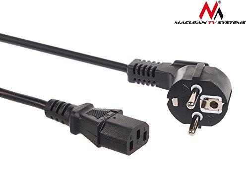 Macleanm - Maclean - Cable de alimentación para CPU Conector cee7/7 schuko/c13 Longitud 1,5m ó 3 Metros (1,5m)