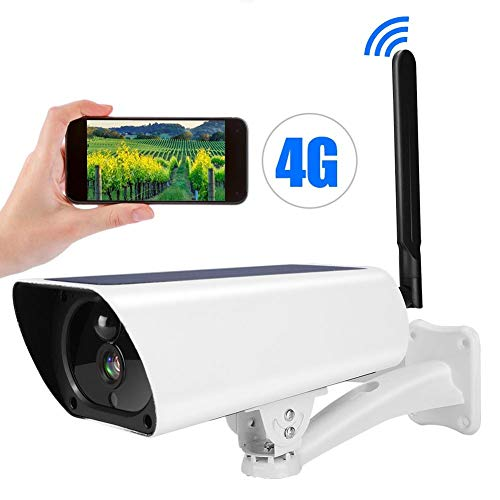 1080P Solar IP Kamera, 4G IP67 wasserdichte CCTV-Nachtsicht-Überwachungskamera Sicherheitsmonitorsystem mit Nachtsicht, Bewegungserkennung, Gegensprechanlage -
