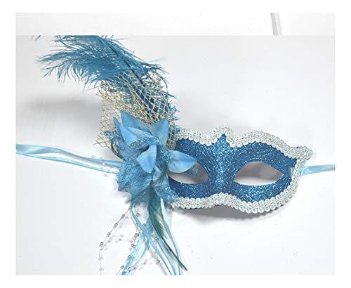 SCLMJ Halloween-Maske-Masken-Blumen-Feder-Dekorations-Halbe Gesichtsmaske Für Maskerade, -