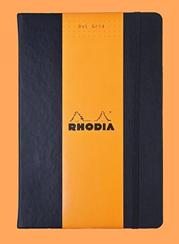 Elfenbein Flaches Blatt (Rhodia 118769C Web Notebook (DIN A5, 14,8 x 21 cm, elfenbein, liniert, dot grid, 90 g, 96 Blatt) 1 Stück schwarz)