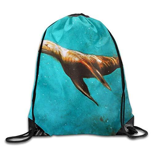 Etryrt Prämie Turnbeutel/Sportbeutel, Sea Animal Harbor Seal Unisex Outdoor Rucksack Shoulder Bag Sport Drawstring Backpack Bag