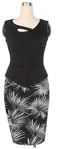 SunIfSnow - Robe spécial grossesse - Moulante - À Fleurs - Sans Manche - Femme Black Fireworks