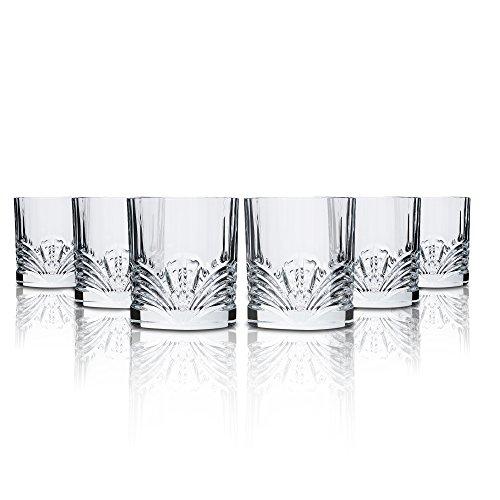 Rcr Aurea Vasos para Agua, Vidrio, Transparente, Confección de 6 Piez