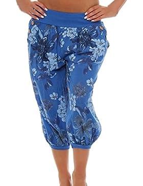 Mujer Pantalones de Yoga Pantalones con Estampado Floral Casual Bombacho Clásico Boyfriend Harem Pantalón Chandal...