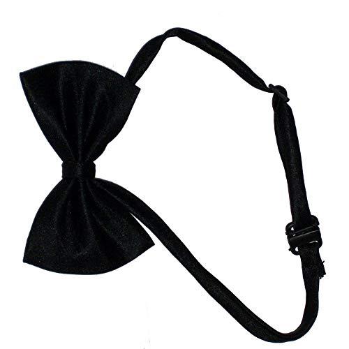 Hemore Hundekostüm mit Fliege, verstellbar, für Hochzeiten, Partys, Schwarz