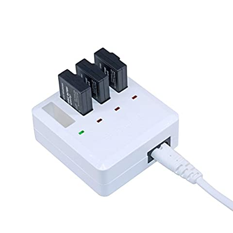 ZEEY 4 Ports Multi Batteries Chargeur Rapide Adaptateur de Batterie