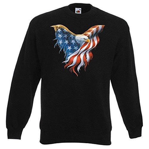 it Flügel Flagge - USA Pullover mit Motiv als Geschenk für Amerika Fans (Baseball-geburtstags-einladung)