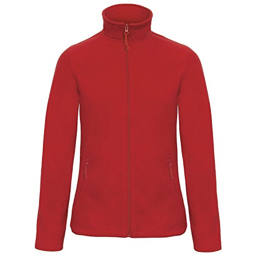 B&C Collection Damen ID 501 Mikrofleece Jacke Rot