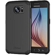 JETech Funda para Samsung Galaxy S6, Carcasa con Diseño Inteligente de Doble Capas, Anti-Choques y Anti-Arañazos, Negro