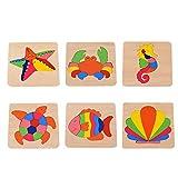 Colorido Puzzle de Madera 3 años, DOTBUY Madera Formas Irregulares...