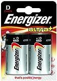 Energizer Ultra + D Batteries 2 Pack