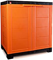 Cello Novelty Compact Storage Cupboard (Orange and Brown)