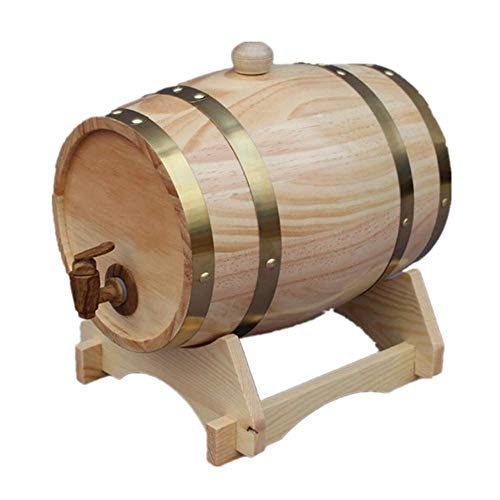 25L Eichenfass, Personalisierte Holz Eichenfässer Holzfass, Rotwein Eichenfässer Zur Lagerung Von Wein, Spirituosen Und Fassbier,Natural Color -