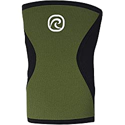 Rehband Men Rx 5 mm Compression Knee Support Sleeve - Olive Green, Large