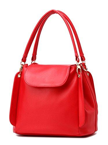 Keshi Pu neuer Stil Damen Handtaschen, Hobo-Bags, Schultertaschen, Beutel, Beuteltaschen, Trend-Bags, Velours, Veloursleder, Wildleder, Tasche Weinrot