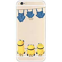Sinergético TPU transparente funda Apple iphone 5/5S 5C. , 6/6S 6plus. Y 6plus S., plástico, 3 MINIONS  3, Apple iPhone 6