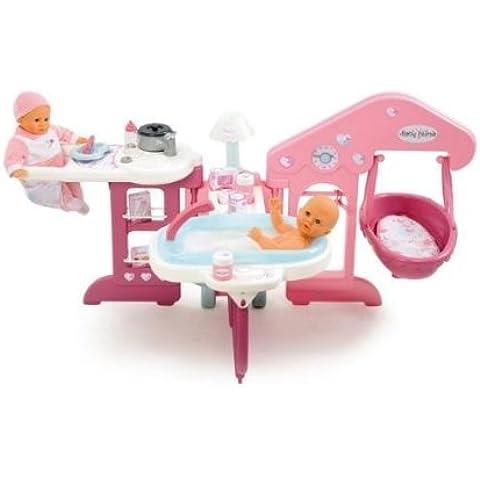 Smoby 24018 - Baby Nurse: casita para bebés de juguete, color rosa