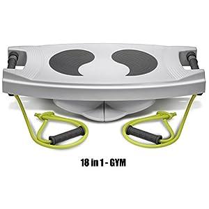 Body Sculpture 18in1 Multifunktion Fitness Gym Steppbrett Balance Board Liegestütz Tube Fitnessbänder Höhenverstellbar inkl. 2 Hanteln