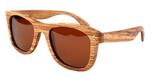 Insun Herren Sonnenbrille Gr. Einheitsgröße, Mehrfarbig - MC5 Wood Frame