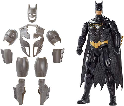Mattel FYY22 - DC Batman Deluxe Figur mit Geräuschen 30 cm Actionfigur, Spielzeug Actionfiguren ab 4 Jahren (Lego Batman Und Robin Kostüm)