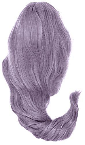 Cosplay Lolita Halloween Perücke für Frauen Lockig Wave Ombre Perücken Haar + Perücke Kappe/silber MX BLAU MIX Lila F19 (New-wave-halloween)