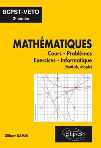 Mathematiques Cours Exercices Informatique Bcpst-Veto Deuxième Annee