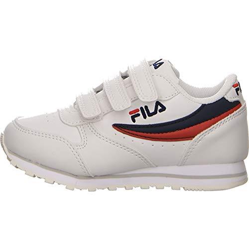 Fila Unisex - Kinder Orbit Velcro Low Jr Sneaker Größe 35 EU Weiß (Weiss) - Kinder Fila