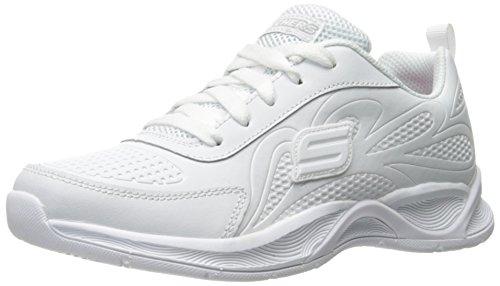Skechers Hi Glitz-Scholar Style, Zapatillas Para Niñas, Blanco (Wht), 37 EU