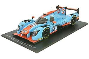 SPARK-Ligier-JS P217Gibson LMP2-Le Mans 2017Coche de ferrocarril de Collection, 18s324, Azul/Naranja