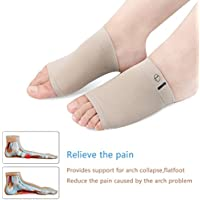 Arch Support Sleeve mit Gel Kissen für Plantarfasziitis und flache Füße Schmerzlinderung Moresave Massage Orthesen... preisvergleich bei billige-tabletten.eu