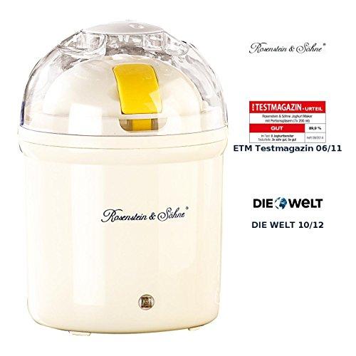 Rosenstein & Söhne Joghurtmaschine: Joghurt-Maker für 1 Liter frischen Joghurt (Joghurtzubereiter)
