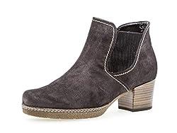 Gabor Damen Chelsea Boots 36.661, Frauen Stiefelette,Stiefel,Halbstiefel,Bootie,Schlupfstiefel,hoch,Dark-Grey(S.n/Mic),38.5 EU / 5.5 UK