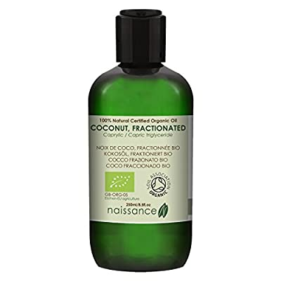 Naissance Fractionated Coconut Oil 250ml Certified Organic 100% Pure from Naissance