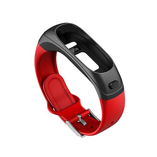 ACTIVITY TRACKER Modell V08Bluetooth Kopfhörer Smart Armband Armbanduhr Band Zubehör, rot