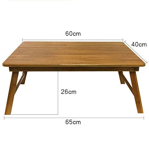 LVZAIXI Ordinateur Portable Réglable Table Pliant Lapdesk PC Bureau Portable Stand Canapé Bureau Bambou Lit Plateau avec Tiroir (Couleur : 2)
