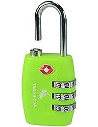 Texas USA - TSA Lock - Florescent Green Lock - Mandatory for US Customs ( ONLY ORIGINAL BRANDED LOCK ONLINE ! )
