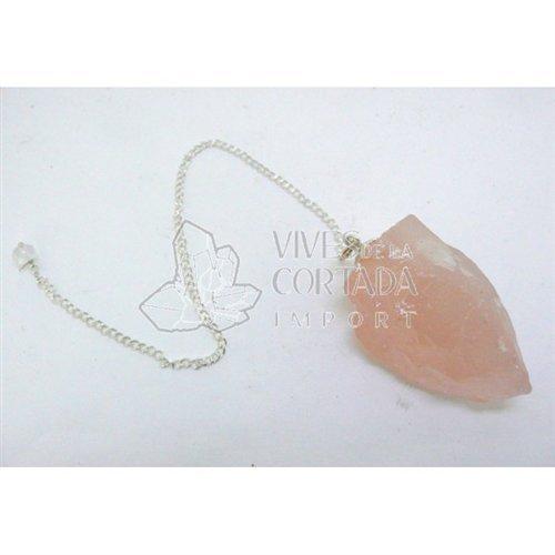 Mineral Import - Pendulo Cuarzo Rosa en Bruto - 2384VC