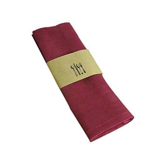 UPKOCH Backtuch Leinen-Servietten Tischdecke Tischdecke Flachs Taschentuch Bäcker Couche Proofing Tuch, Flax, dunkelrot, 30 x 42 cm