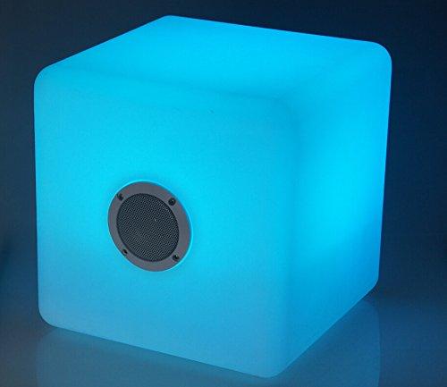 RGB color cube tragbarer kabelloser Bluetooth Musik Lautsprecher USB Speaker Würfel Box 20cm