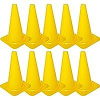 Cawila - Cono de señalización (tamaño S, 23 cm, 10 Unidades), Todo el año, Color Amarillo - Amarillo, tamaño estándar