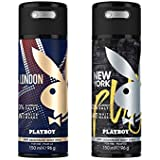 Playboy London + New York Deo Combo Set - Pack Of 2 Mens