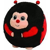 Ty 7138008 Dots ball - Mariquita de peluche, 12 cm [importado de Alemania]