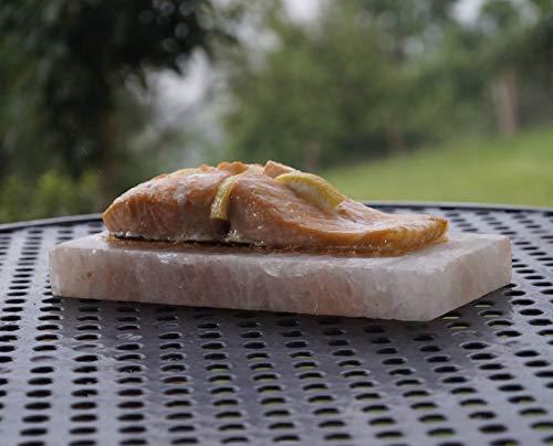 41Yc LmrmVL - grillart® Premium XL Salzstein zum Grillen (2er Pack) - Hochwertiger BBQ Salz Grillstein für einen besonderen Geschmack - Original Salzplanke zum Grillen