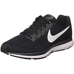 Nike Air Zoom Pegasus 34, Chaussures de Running Homme, Noir (Noir/Grisfoncé/Anthracite/Blanc), 43 EU