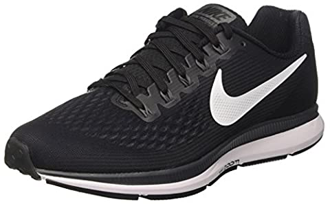 Nike Air Zoom Pegasus 34, Chaussures de Running Homme, Noir (Black/White-Dark Grey-Anthracite), 42 EU