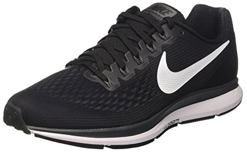 Nike Herren Air Zoom Pegasus 34 Laufschuhe, Schwarz (Black/white-dark Grey-anthracite), 44.5 EU - Nike-zoom