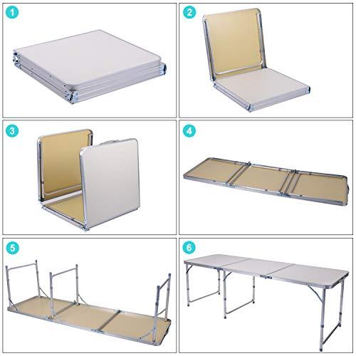 Zoom IMG-1 sunflo tavolo pieghevole 1 8