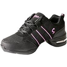 LSERVER-Zapatos de Baile Contemporáneo Jazz para Mujeres Zapatillas Ligeras  y Cómodas Transpirables a1d1b20ceb0