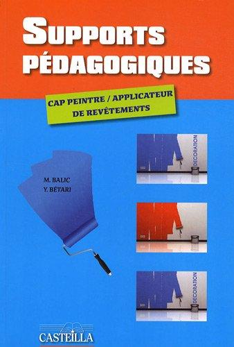 Supports pédagogiques CAP peintre applicateur de revêtements
